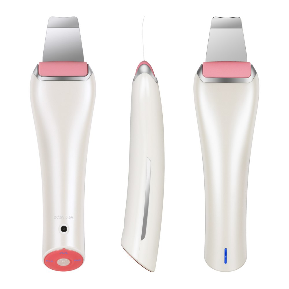 EMS & Ultrasonic Facial Peeling Scrubber Deep Cleaning Vibration Massager - ibeautyneed