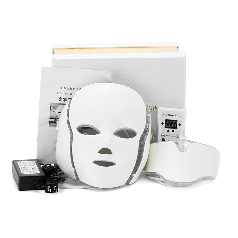 7 Color LED EMS Micro-current Face Neck Care Beauty Mask - ibeautyneed