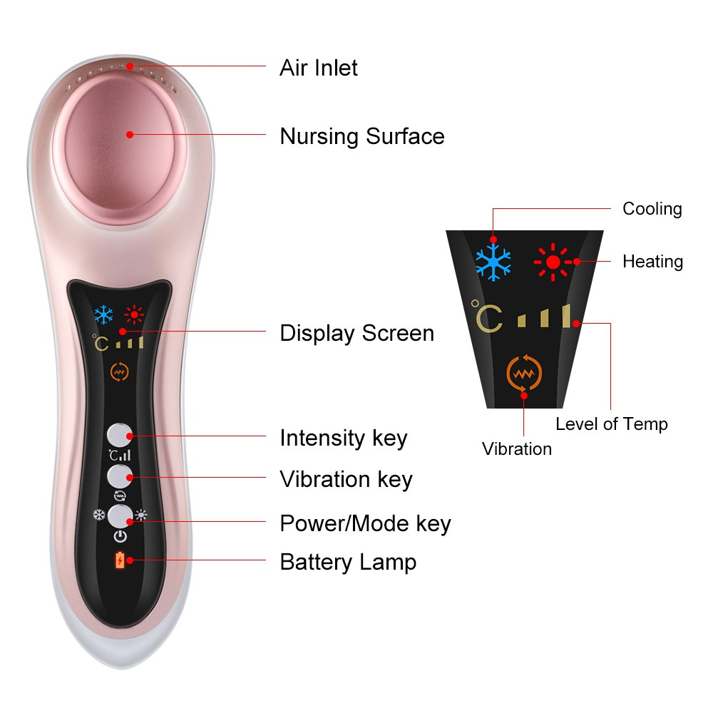 Electric Eye Massager Hot Cold Eye Care Machine Dark Circles Wrinkle Remaval - ibeautyneed