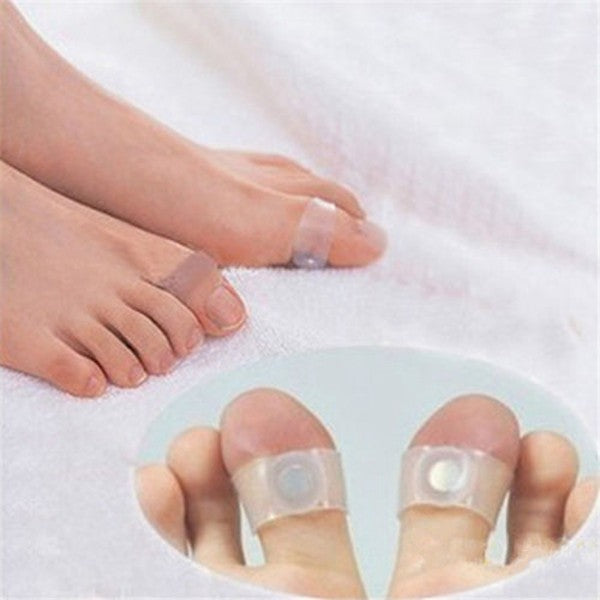 1 Pair Magnetic Toe Ring Slimming Health Foot Massage Ring - ibeautyneed