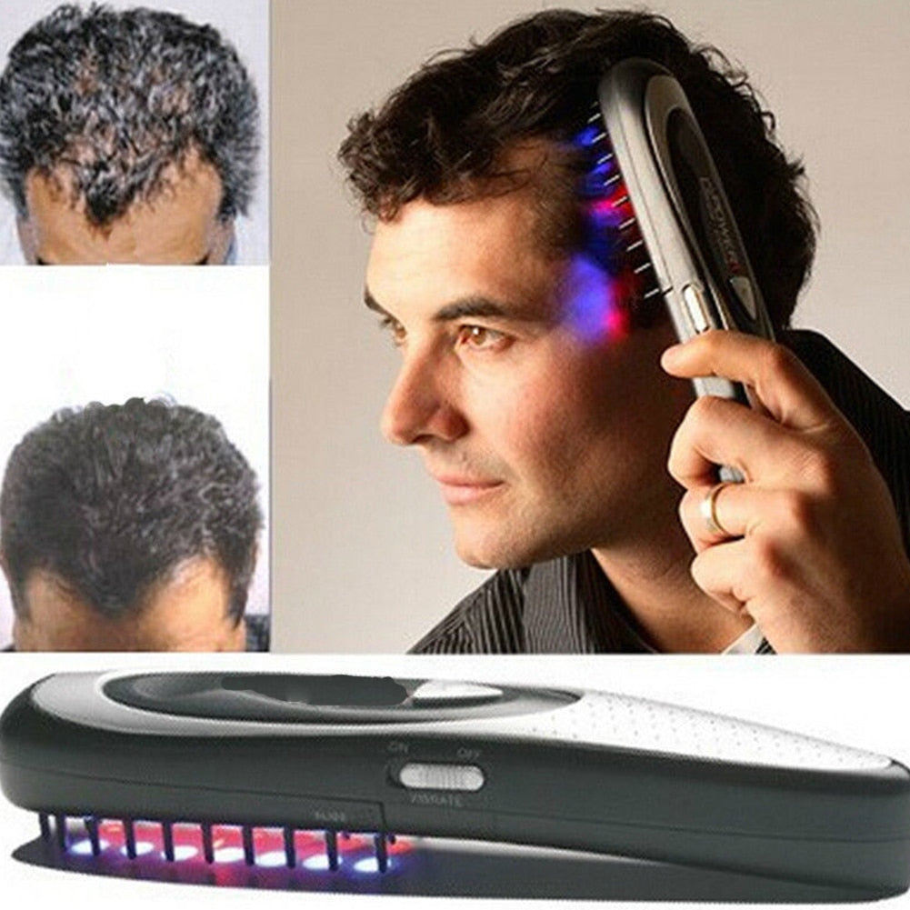 Hair Laser Comb Loss Brush Grow Treatment Growth Therapy Massage Kit Regrowth - ibeautyneed