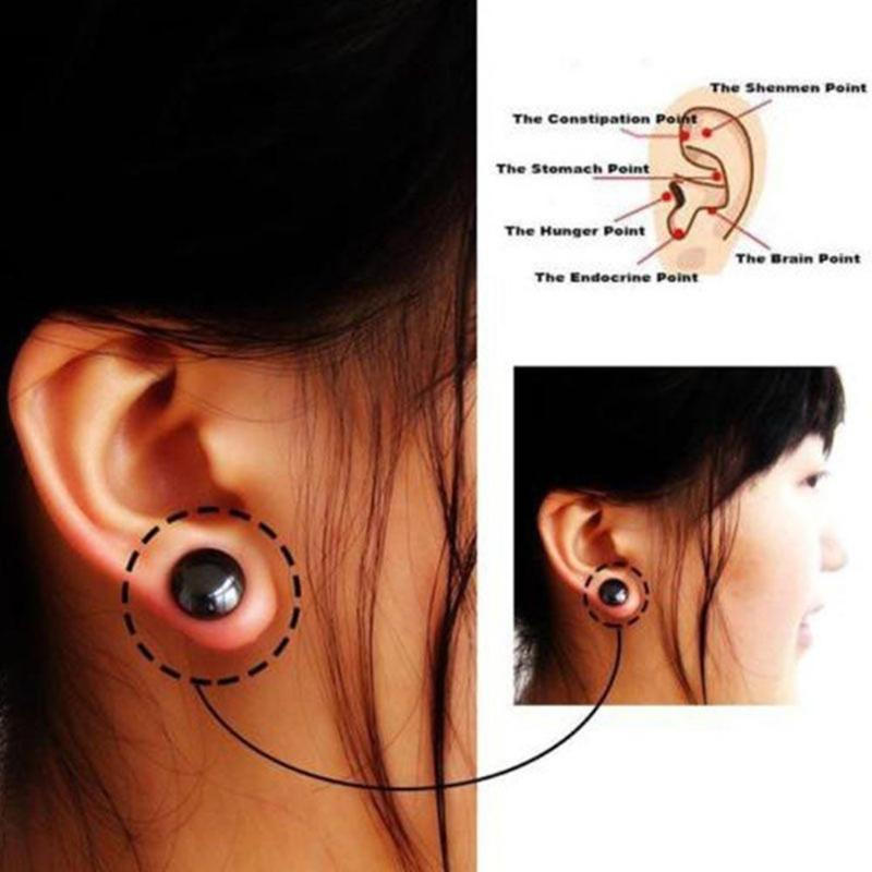 1 Pair Bio Magnetic Acupoint Healthy Earring - ibeautyneed