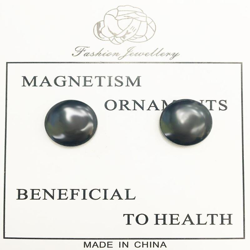 1 Pair Bio Magnetic Acupoint Healthy Earring-iBeautyneed