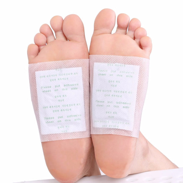 100pcs Detox Foot Pads Patch Detoxify Toxins + Adhesive for Keeping Fit Better Sleep - ibeautyneed
