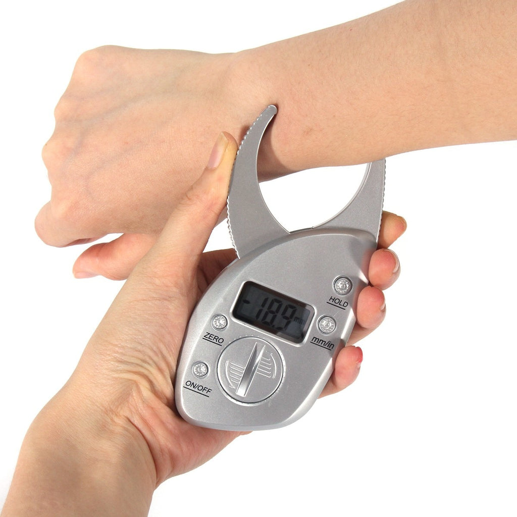 Portable Digital LCD Body Fat Caliper Skin Fold Thickness Measurement-iBeautyneed