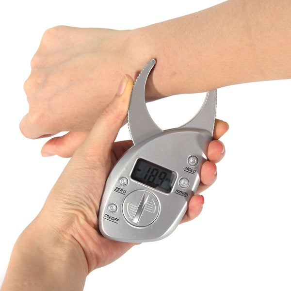 Portable Digital LCD Body Fat Caliper Skin Fold Thickness Measurement - ibeautyneed