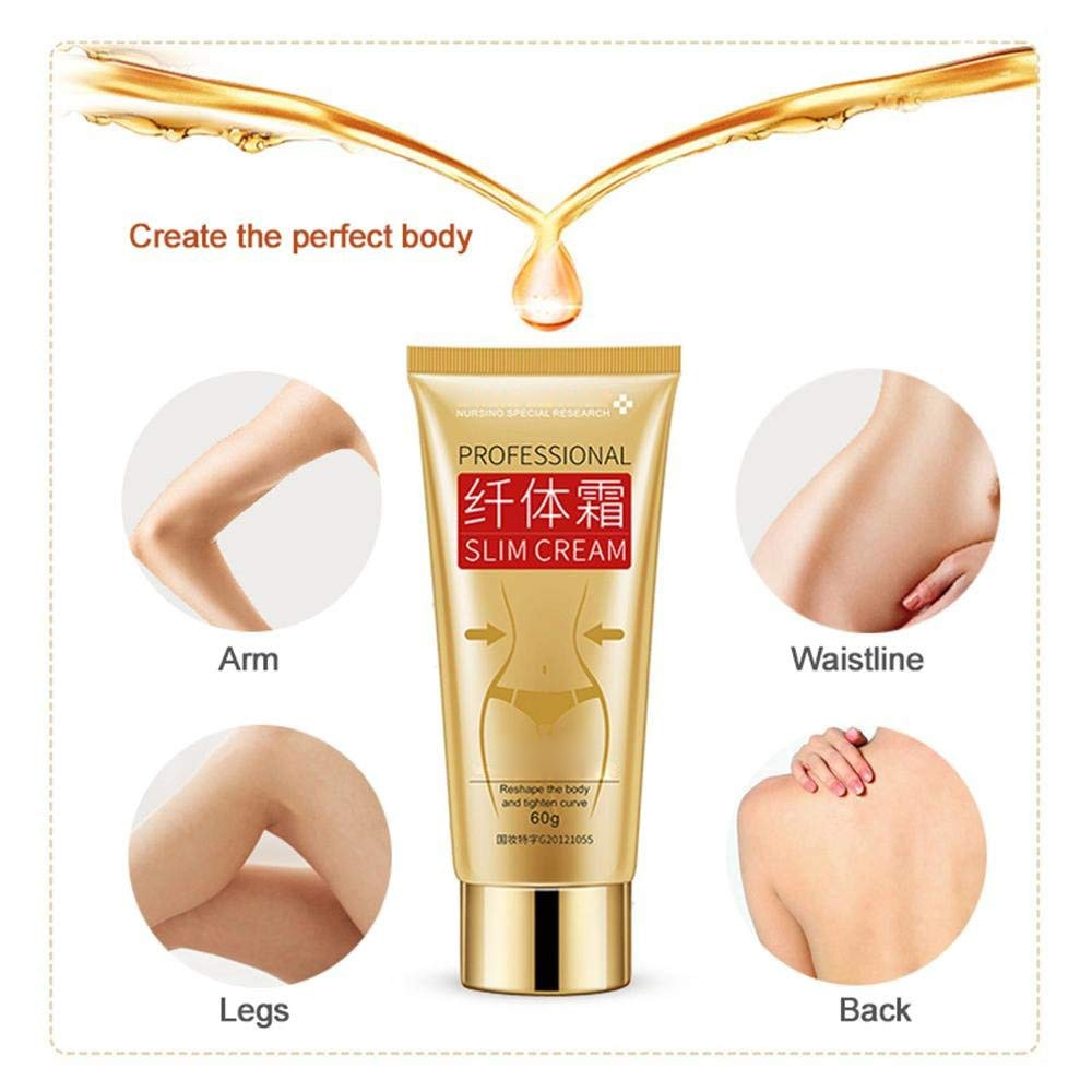 60g Body Slim Cream Leg Body Waist Effective Anti Cellulite Fat Burning Cream - ibeautyneed