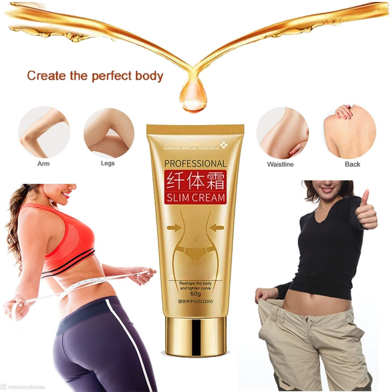 60g Body Slim Cream Leg Body Waist Effective Anti Cellulite Fat Burning Cream-iBeautyneed