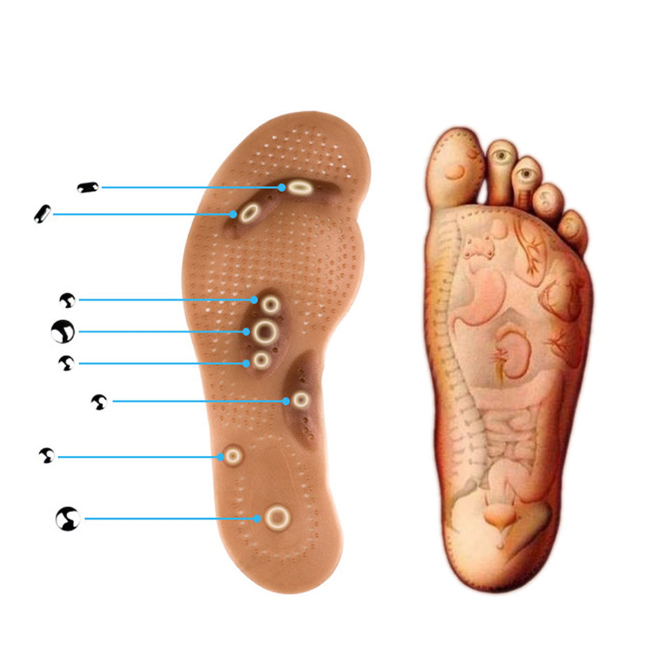 Body Detox Magnetic Foot Acupuncture Point Therapy Massage Shoe Pads - ibeautyneed