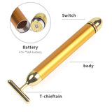 24k Gold Beauty Bar Facial Roller Face Vibration Beauty Stick-iBeautyneed