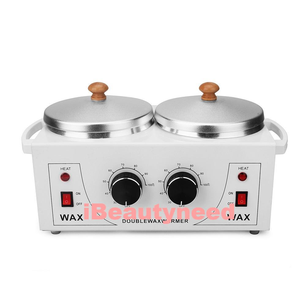 Electric Wax Warmer Machine with Double Pot for Hair Removal - ibeautyneed