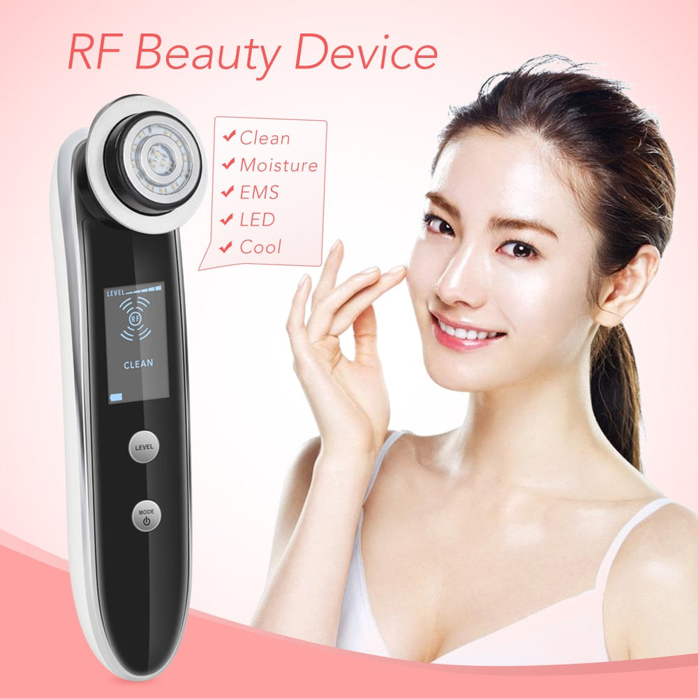 LED RF EMS Ion Skin Care Facial Beauty Massager for Home Use-iBeautyneed