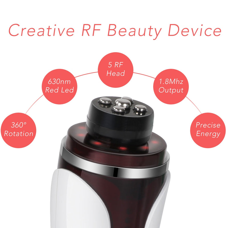 Professional RF Far Infrared Facial Skin Care Beauty Machine with Auto Rotating Massage Head-iBeautyneed