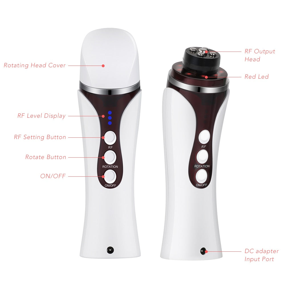Professional RF Far Infrared Facial Skin Care Beauty Machine with Auto Rotating Massage Head - ibeautyneed