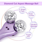 3D Face Massage Roller Micro-current Vibration Wrinkle Removal Beauty Device-iBeautyneed