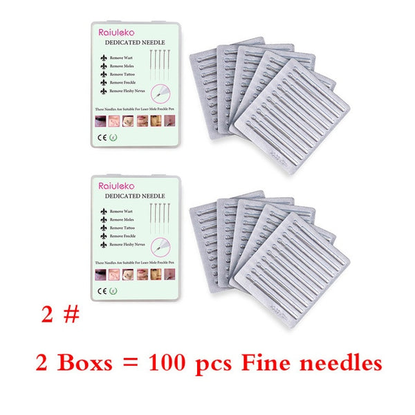50&100 Pcs Plasma Pen Needles For Laser Skin Dark Spot Remover Mole Tattoo Removal Pen - ibeautyneed
