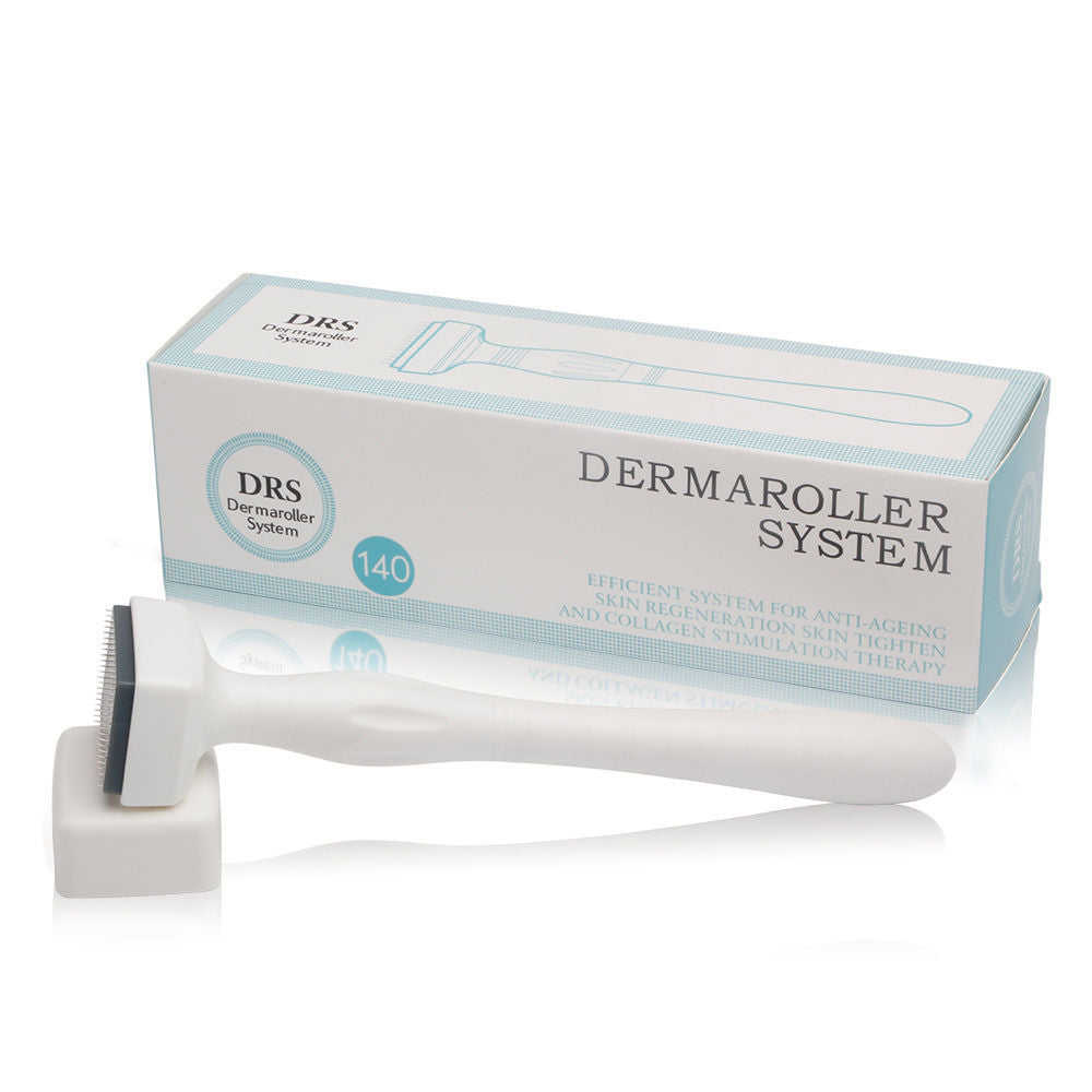 DRS 140 Microneedle Derma Roller Stamp Skin Care Therapy Anti Aging Scar Wrinkle - ibeautyneed