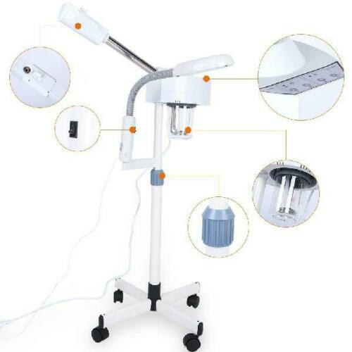 2 in 1 Facial Steamer 5X Magnifying LED Lamp Hot Ozone Beauty Facial Clean Machine - ibeautyneed