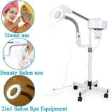 2 in 1 Facial Steamer 5X Magnifying LED Lamp Hot Ozone Beauty Facial Clean Machine-iBeautyneed