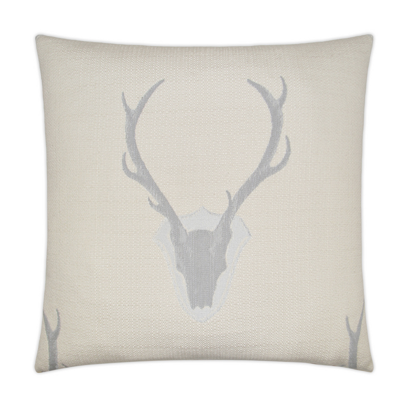 "24x24"" BUCK PILLOW - GRAY"