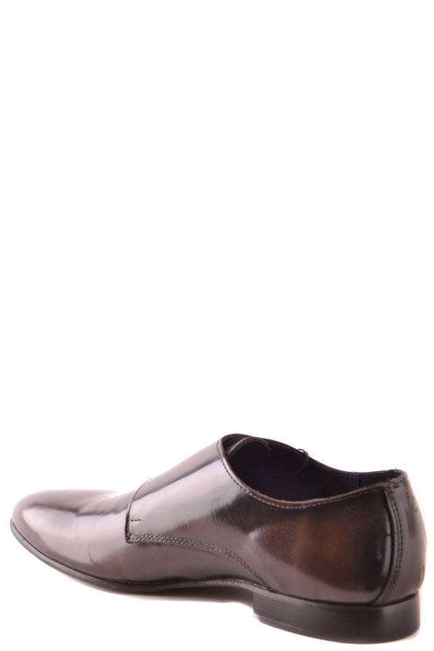 Double strap monk leather shoes Trussardi