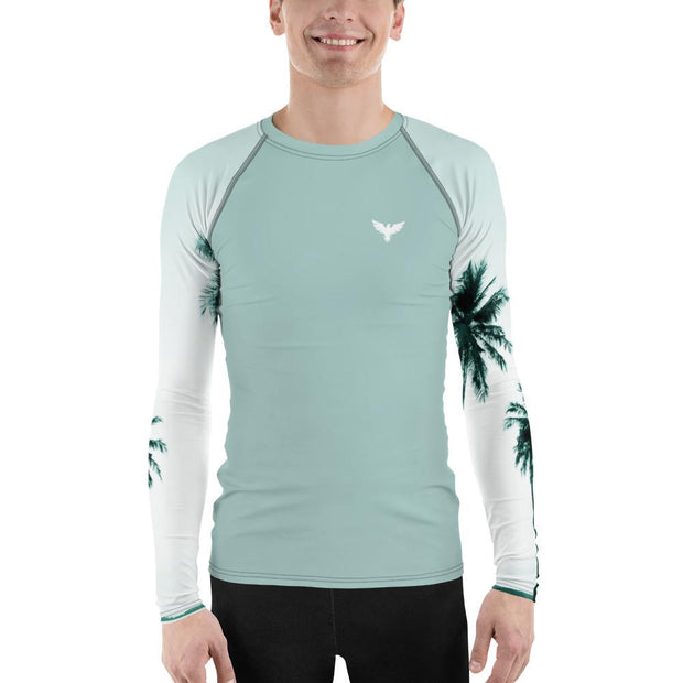 Men's Palm Paradise Sleeve Performance Rash Guard UPF 40+