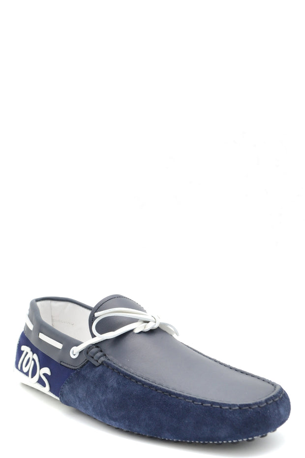 Tod's blue moccassins print