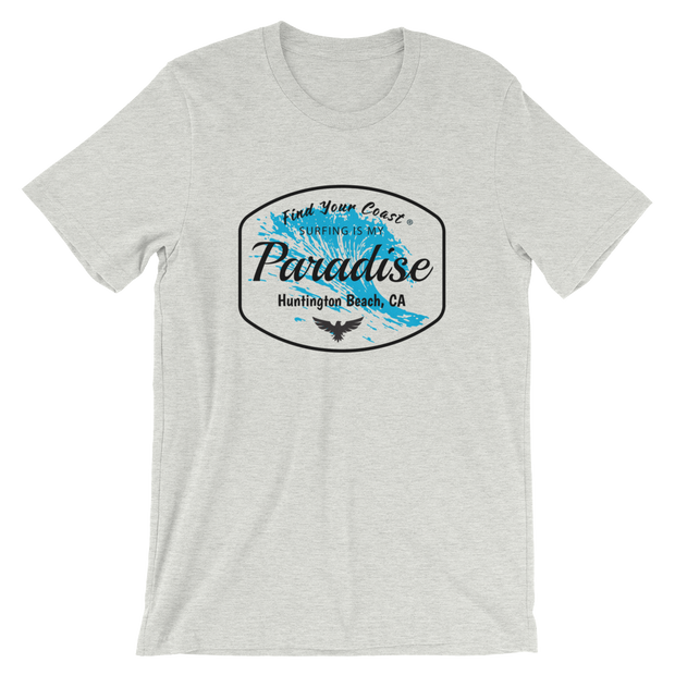 Men's Surfing Is My Paradise Location Drop Customizable Tee (Personalize This!)