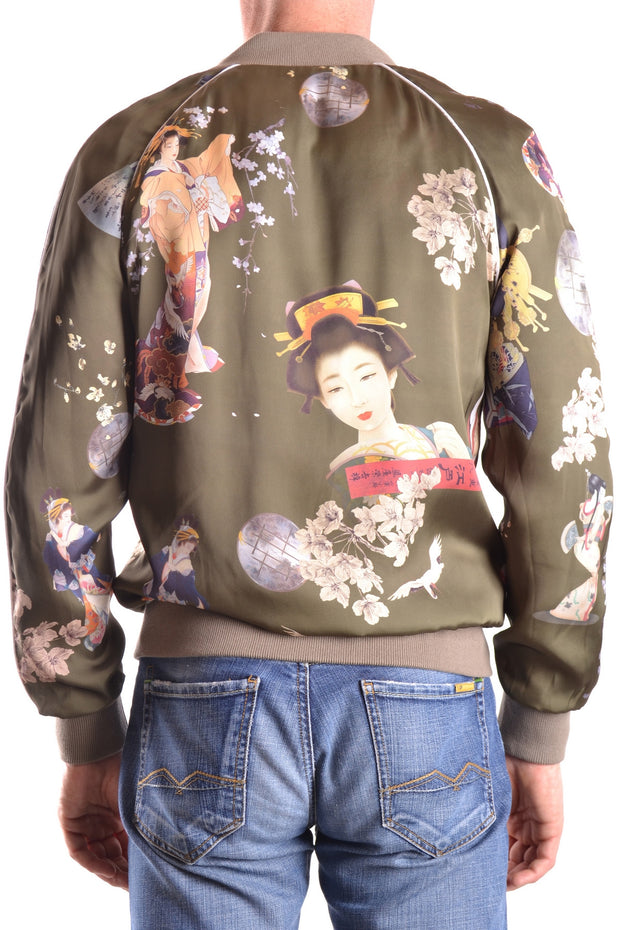 Sweatshirt with zipper Daniele Alessandrini japanese print