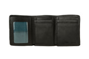 Hidesign Angle Stitch Leather Slim Trifold Wallet