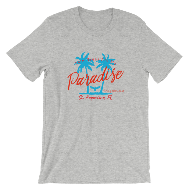 Men's Palm Trees Are My Paradise Customizable Tee Shirt (Personalize This!)