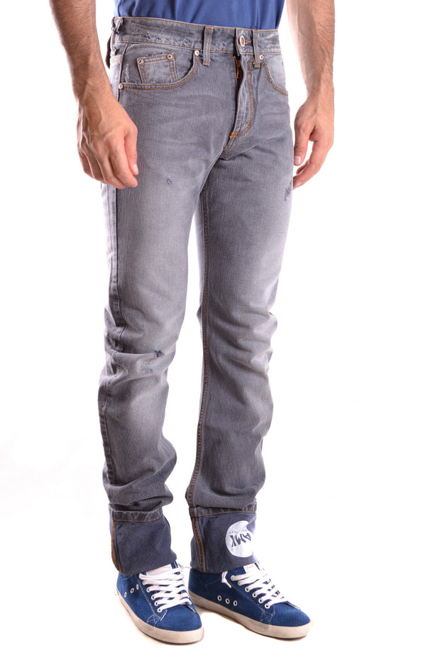 Andrew Mackenzie washed grey denim jeans in straight fit