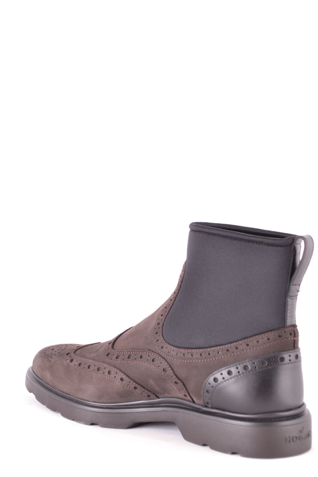 Black and brown Hogan boots