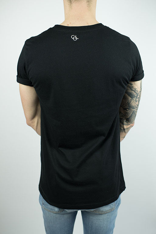 The Lakeside Rolled-cuff T-shirt in Black