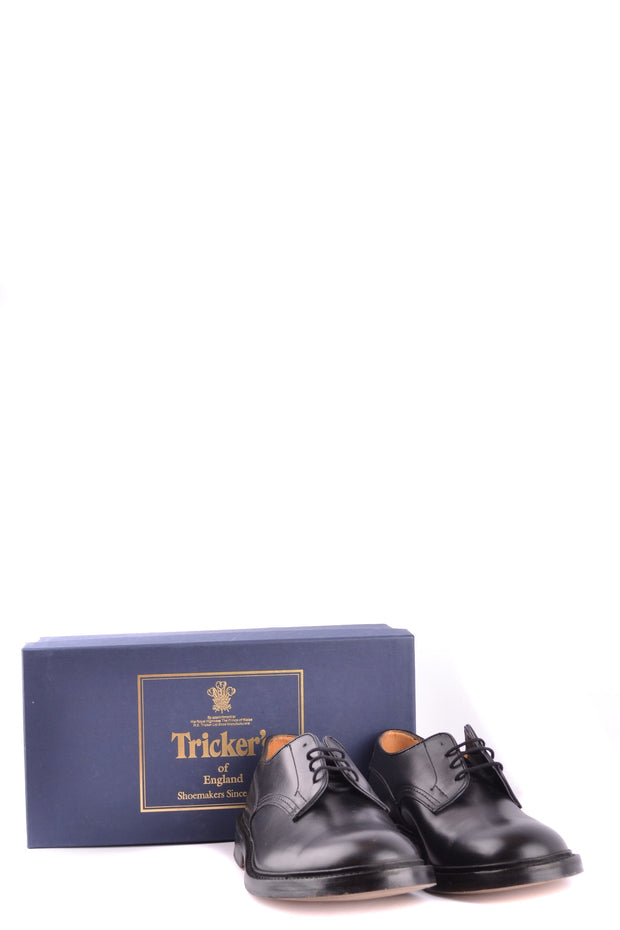 Tricker's leather derby