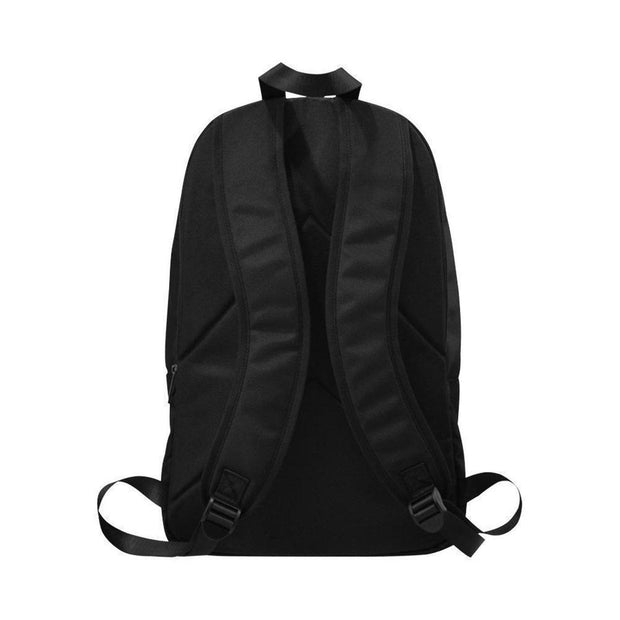 Adults Black Backpack with Small White Lion