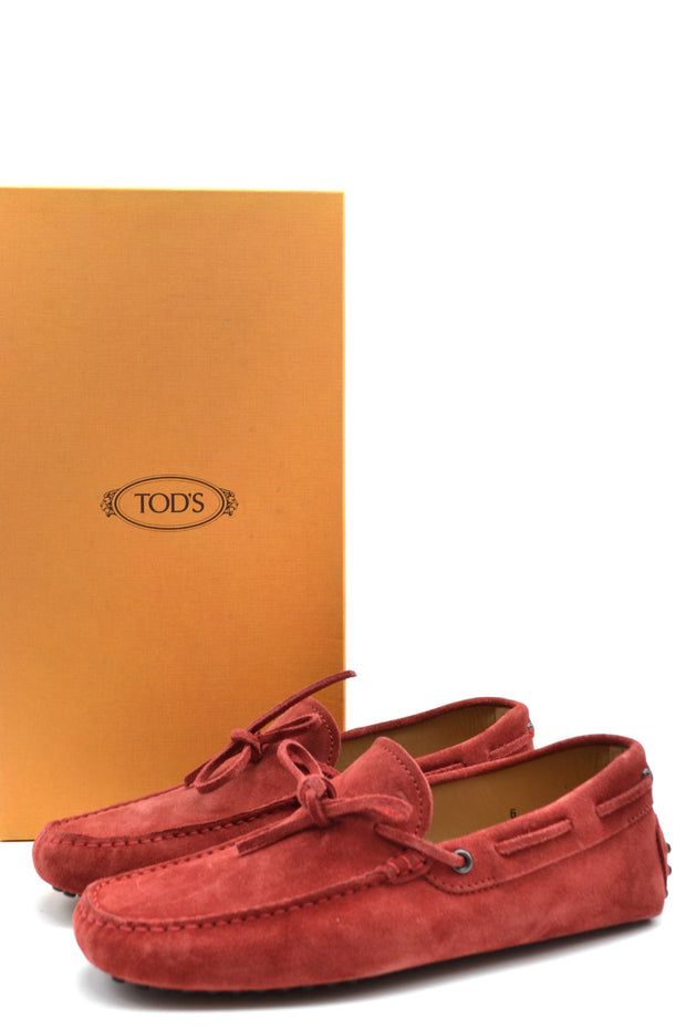 Tod's red moccasins