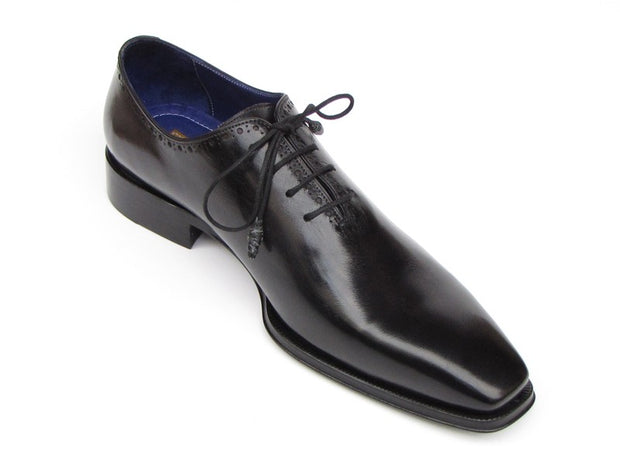Paul Parkman Men's Plain Toe Oxfords Whole-cut Black