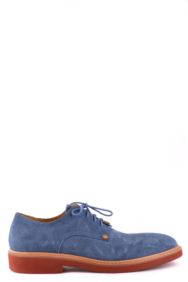 Cesare Paciotti navy blue derby shoes