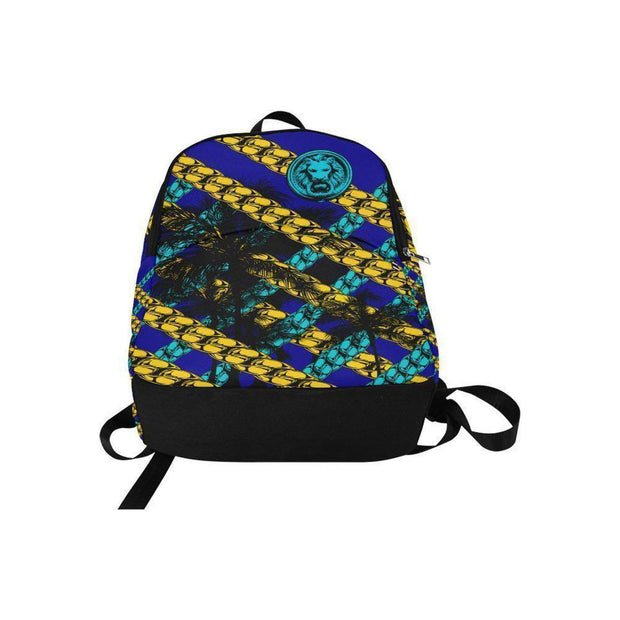 Blue Yellow Chain Adult Back Pack