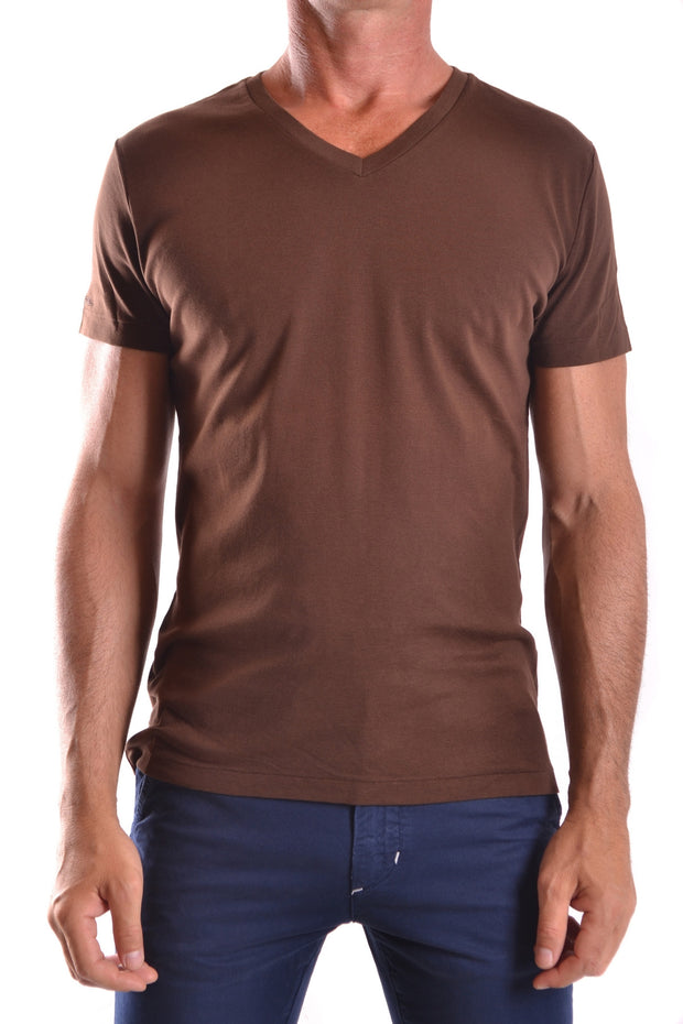 T-Shirt Ralph Lauren V-neck brown