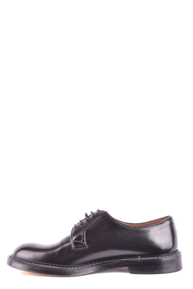 Doucal's leather derby shoes in black