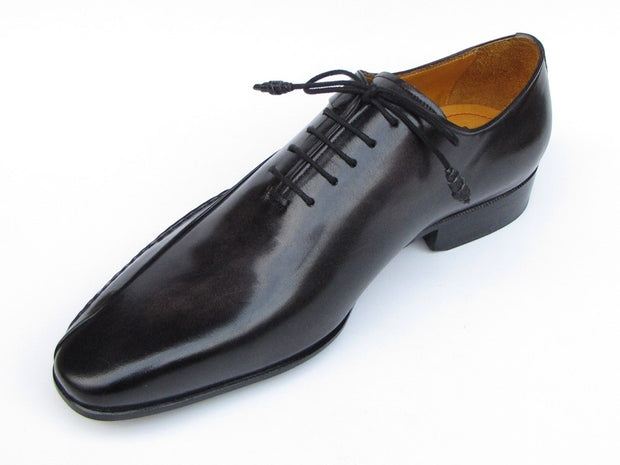 Paul Parkman Men's Black Leather Oxfords - Side Handsewn