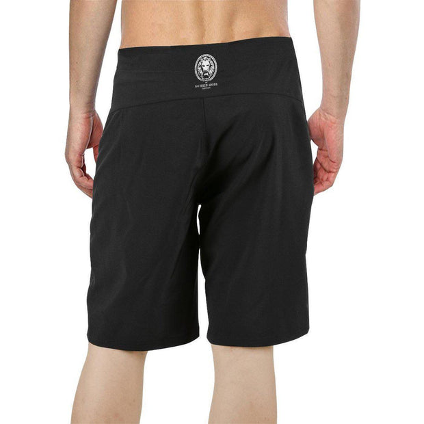 Black Mens Board Shorts Small White Lion