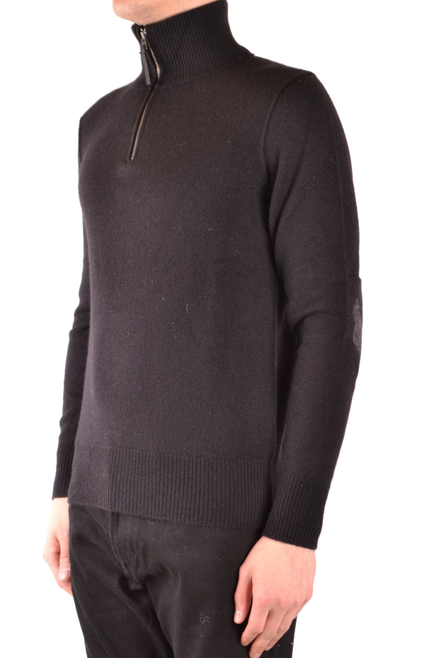 Sweater Burberry with zipper in black