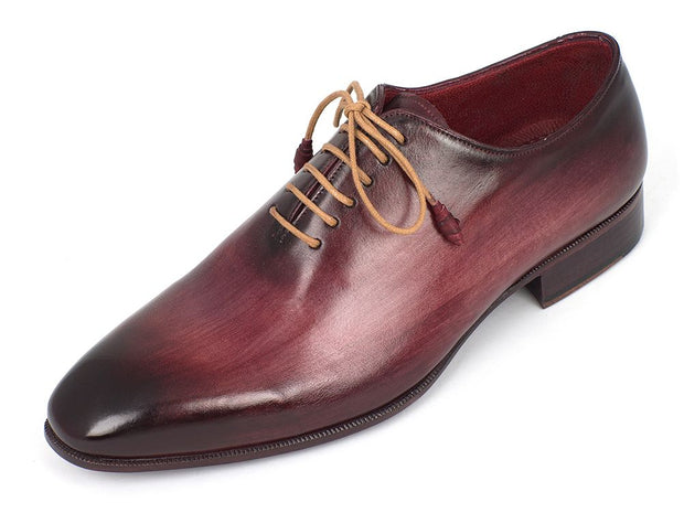 Paul Parkman Men's Burgundy Wholecut Plain Toe Oxfords