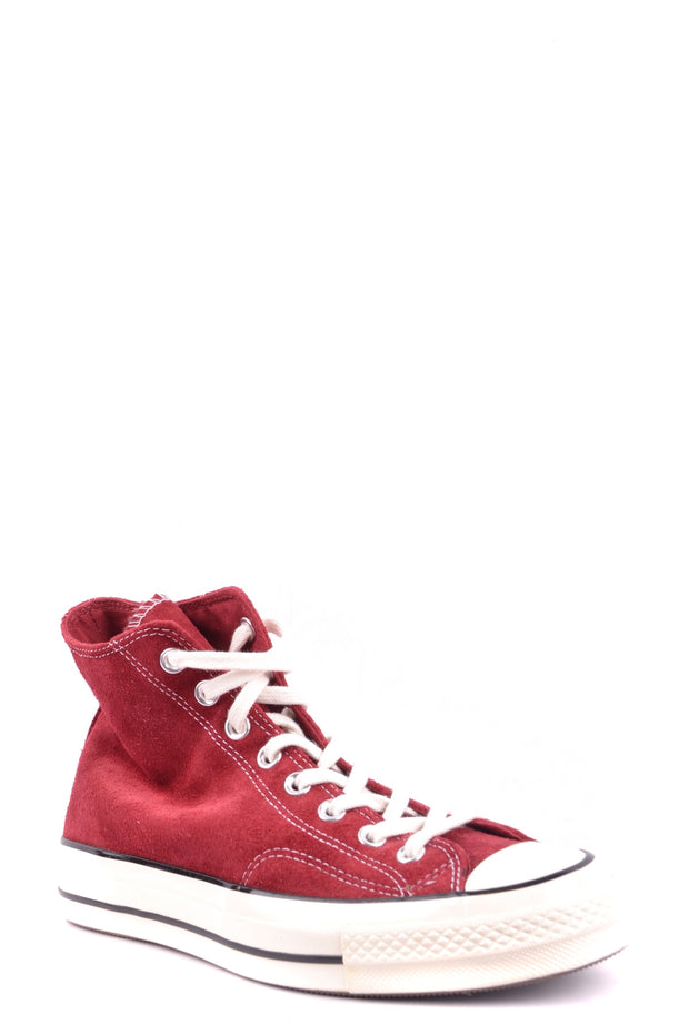Converse all red high top sneaker