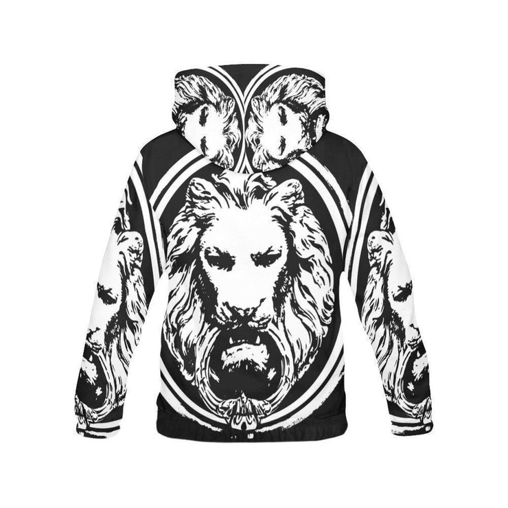 Mens Lion All Over Hoodie