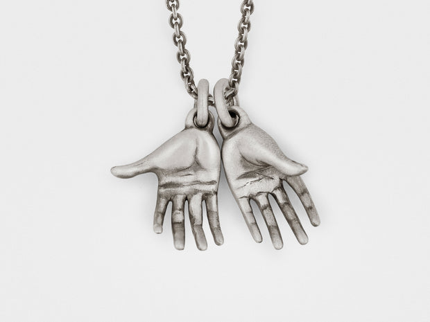 Hands Pendant in Sterling Silver