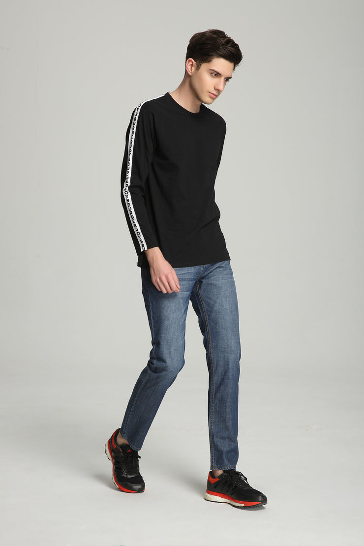 BURGERJOYS Taped Seam Sweater In Black